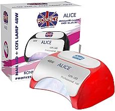 Voňavky, Parfémy, kozmetika Lampa CCFL+LED, červená - Ronney Profesional Alice Nail CCFL+LED 48w (GY-LCL-015D) Lamp