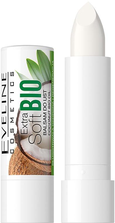 "Balzam na pery ""Kokos"" - Eveline Cosmetics Extra Soft Bio Coconut Lip Balm"
