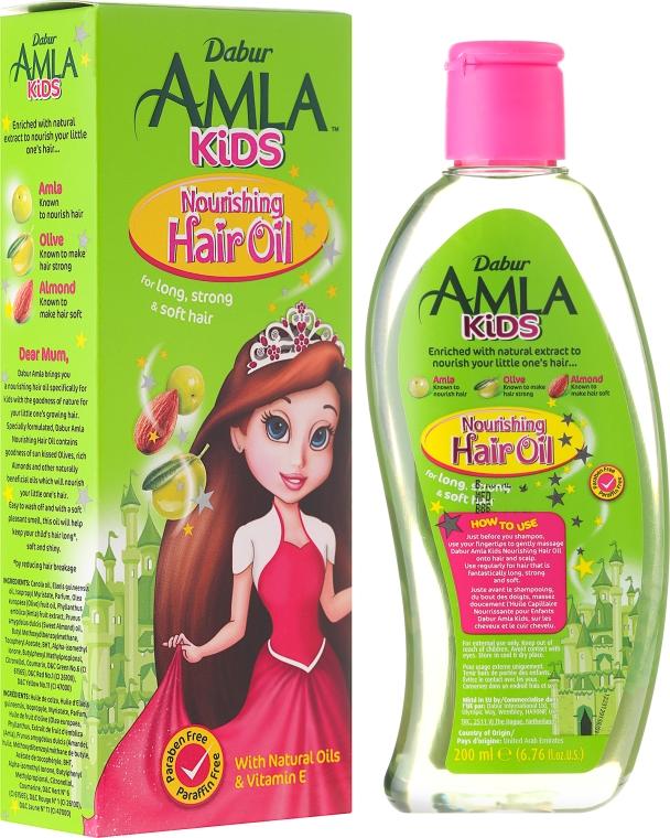 Detský olej na vlasy - Dabur Amla Kids Nourishing Hair Oil