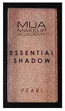 Voňavky, Parfémy, kozmetika Očný tieň - MUA Essential Shadow Pearl