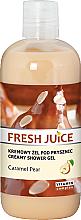 """Voňavky, Parfémy, kozmetika Krémový sprchový gél """"Karamelová hruška"""" - Fresh Juice Caramel Pear Creamy Shower Gel"""