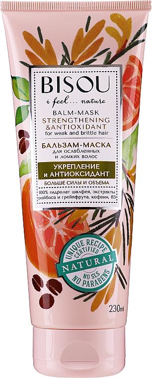 "Balzamová maska na vlasy ""Spevnenie a antioxidant"" - Bisou Balm-Mask Strengthening & Antioxidant"