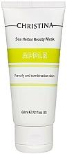 Voňavky, Parfémy, kozmetika Jablková maska pre mastnú a kombinovanú pleť - Christina Sea Herbal Beauty Mask Green Apple
