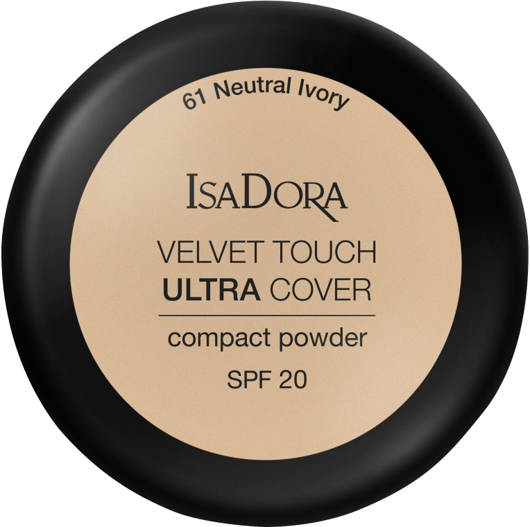 Púder na tvár - IsaDora Velvet Touch Ultra Cover Compact Powder SPF 20 (61 -Neutral Ivory)