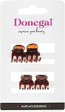 Voňavky, Parfémy, kozmetika Štipce do vlasov FA-5819, mini, hnedé, 4 ks - Donegal Hair Clip