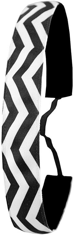 Čelenka, čierno-biela - Ivybands Chevron Black White Hair Band — Obrázky N1