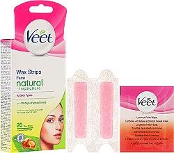 Voňavky, Parfémy, kozmetika Prúžky vosku s arganovým olejom na tvár - Veet Natural Inspirations Face Wax Strips