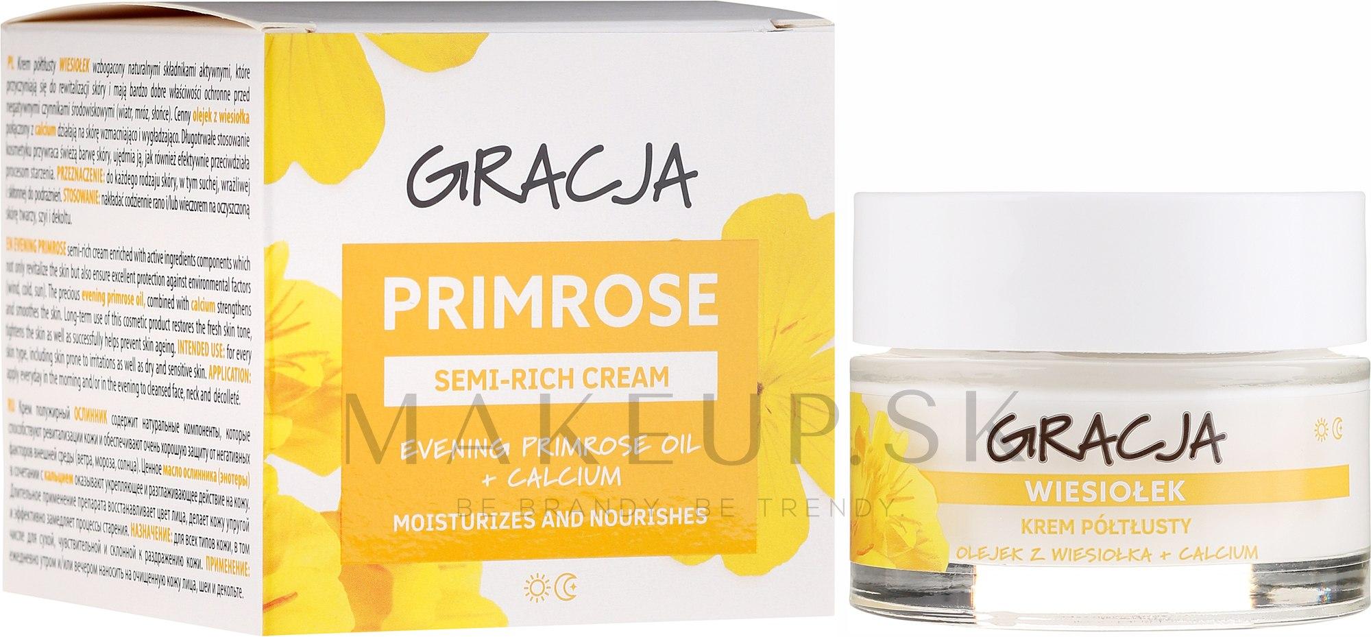Výživný krém s olejom z pupalky - Gracja Semi-oily Cream With Evening Primrose — Obrázky 50 ml