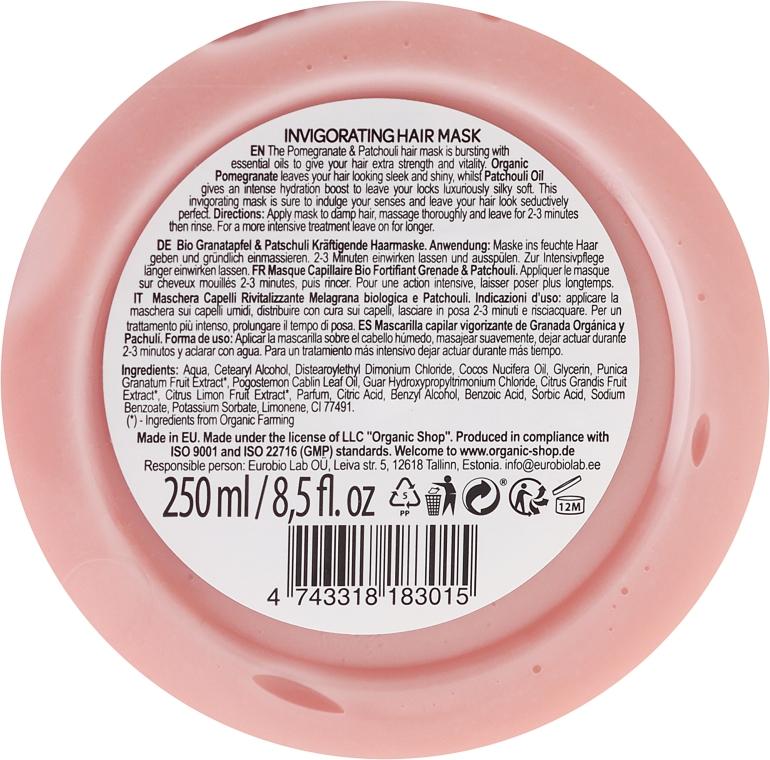 """Maska na vlasy """"Granátové jablko a pačuli"""" - Organic Shop Mask Pomegranate and Patchouli — Obrázky N3"""