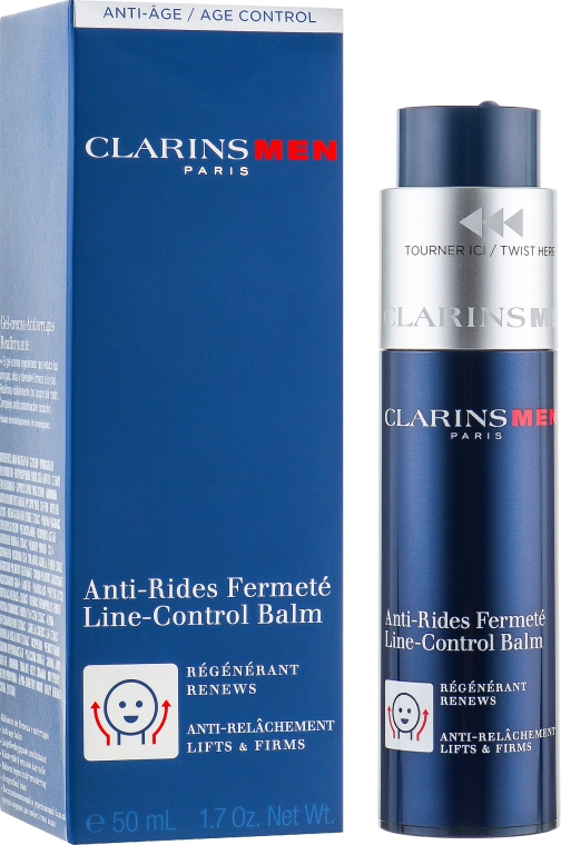 Balzam na tvár proti starnutiu - Clarins Men Line-Control Balm