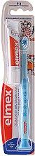 Voňavky, Parfémy, kozmetika Detská zubná kefka ( 0-3 roky), modrá s žirafou - Elmex Learn Toothbrush Soft + Toothpaste 12ml