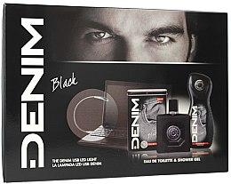 Voňavky, Parfémy, kozmetika Denim Black - Sada (edt/100ml + sh/gel/250ml)