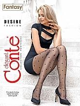 """Voňavky, Parfémy, kozmetika Pančuchové nohavice """"Fantasy Desire"""" 20 Den, nero - Conte"""