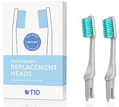 Voňavky, Parfémy, kozmetika Náhradná hlavica do zubnej kefky, mäkká štetina, šedá - TIO Toothbrush Soft