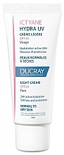 Voňavky, Parfémy, kozmetika Krém pre normálnu až suchú pokožku - Ducray Ictyane Hydra UV Light Cream SPF 30