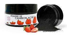 "Voňavky, Parfémy, kozmetika Bieliaci prášok ""Jahoda"" - Keeth Strawberry-flavoured Activated Charcoal Bleaching Powder"