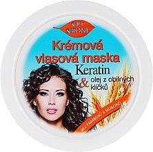 Voňavky, Parfémy, kozmetika Krémová maska na vlasy - Bione Cosmetics Keratin + Grain Sprouts Oil Cream Hair Mask