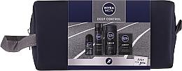 Voňavky, Parfémy, kozmetika Sada - Nivea Men Deep Control 2020 (sh/gel/250ml + ash/lot/100ml + foam/200ml + deo/50ml + bag)