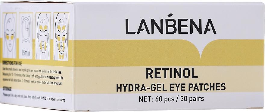 Omladzujúca hydrogélová náplasti na oči s retinolom a kolagénom - Lanbena Retinol Collagen Hydra-Gel Eye Patch