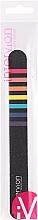 Voňavky, Parfémy, kozmetika Pilník na nechty, čierny s farebnými pruhmi - Inter-Vion
