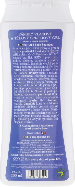Sprchový gél - Bione Cosmetics Gentlemens Range Hair & Body Shower Gel — Obrázky N2