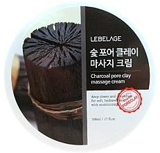 Voňavky, Parfémy, kozmetika Masážny krém na tvár na báze dreveného uhlia - Lebelage Charcoal Pore Clay Massage Cream