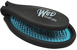 Voňavky, Parfémy, kozmetika Kompaktná kefa na vlasy - Wet Brush Pop Fold Cool Blue