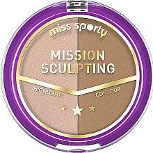 Voňavky, Parfémy, kozmetika Kontúrovacia paleta - Miss Sporty Mission Sculpting