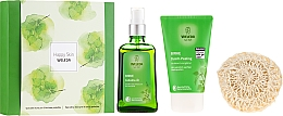 Voňavky, Parfémy, kozmetika Sada - Weleda Happy Skin (b/peel/150ml + b/oil/100ml + sh/sponge)