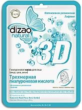 """Voňavky, Parfémy, kozmetika Hyalurónová pleťová maska """"Trojrozmerná kyselina hyalurónová"""" - Dizao Natural 3D Hyaluronic Mask"""