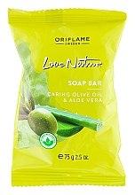 "Voňavky, Parfémy, kozmetika Mydlo ""Oliva a Aloe"" - Oriflame Love Nature Olive Oil & Aloe Vera Soap Bar"