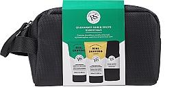 Voňavky, Parfémy, kozmetika Sada - The Real Shaving Co. Overnight Skin Shave Essentials Gift Set (shave/gel/100ml+face/wash/scrub/100ml+bag+acc)