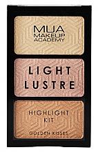 Voňavky, Parfémy, kozmetika Paleta rozjasňovačov na tvár - MUA Light Lustre Trio Highlight