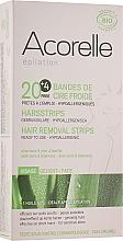 Voňavky, Parfémy, kozmetika Voskové depilačné pásiky na tvár, aloe a materská kašička - Acorelle Hair Removal Strips