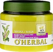 Voňavky, Parfémy, kozmetika Zjemňujúca maska s výťažkom sladkého drievka pre citlivú pokožku hlavy - O'Herbal