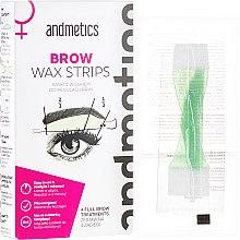 Voňavky, Parfémy, kozmetika Vosk na obočie - Andmetics Women's Brow Wax Strips