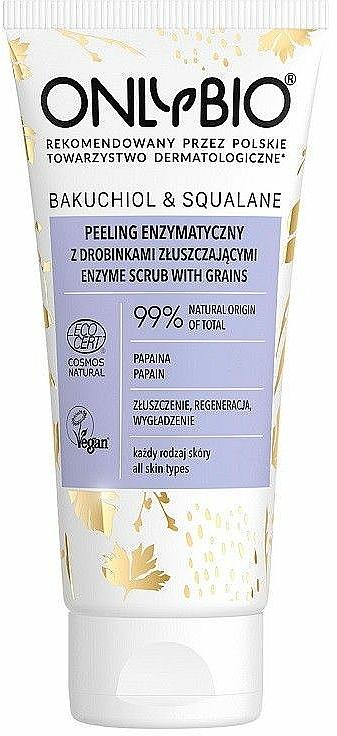 Mechanický peeling na tvár - Only Bio Bakuchiol & Skwalan Peeling