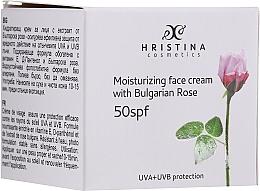 Voňavky, Parfémy, kozmetika Hydratačný krém na tvár SPF50 - Hristina Cosmetics Moisturizing Face Cream With Bulgarian Rose SPF50