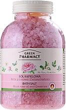 """Voňavky, Parfémy, kozmetika Soľ do kúpeľa """"Muškatová ruža a Zelený čaj"""" - Green Pharmacy"""