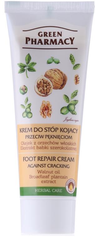 """Krém na nohy liečivý """"Vlašský orech a extrakt skorocela"""" - Green Pharmacy — Obrázky N1"""