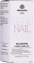 Voňavky, Parfémy, kozmetika Olej na starostlivosť o ruky - Alessandro International Balancing Hand Care Oil