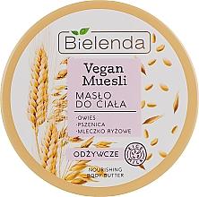 """Voňavky, Parfémy, kozmetika Výživný olej na telo """"Ovos, pšenica, ryžové mlieko"""" - Bielenda Vegan Muesli Nourishing Body Butter"""