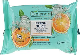 """Voňavky, Parfémy, kozmetika Micelárne odličovacie utierky """"Pomaranč"""" - Bielenda Fresh Juice Micelar Make-up Removing Wipes"""