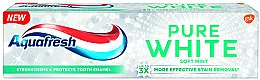 "Voňavky, Parfémy, kozmetika Bieliaca zubná pasta ""Mäkká mäta"" - Aquafresh Pure White Soft Mint"
