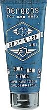 Voňavky, Parfémy, kozmetika Sprchový gél - Benecos For Men Only Body Wash 3in1