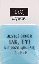 """Voňavky, Parfémy, kozmetika Prírodné mydlo """"Chlapi tiež majú pocity ..."""" - LaQ Happy Soaps Short Message Soap"""