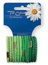 Voňavky, Parfémy, kozmetika Gumičky na vlasy lesklé 12 ks, zelené - Top Choice