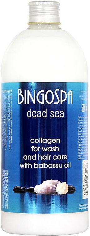 Šampón na vlasy s kolagénom a olejom Babassu - BingoSpa Collagen Shampoo — Obrázky N1