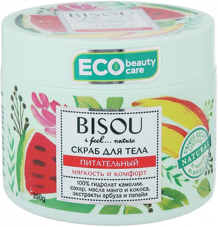"""Scrub na telo """"Výživný"""" s extraktom melónu a manga - Bisou I feel... Nature Nourishing Body Scrub"""
