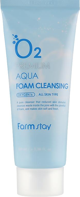 Kyslíková pena na umývanie - FarmStay O2 Premium Aqua Foam Cleansing — Obrázky N2
